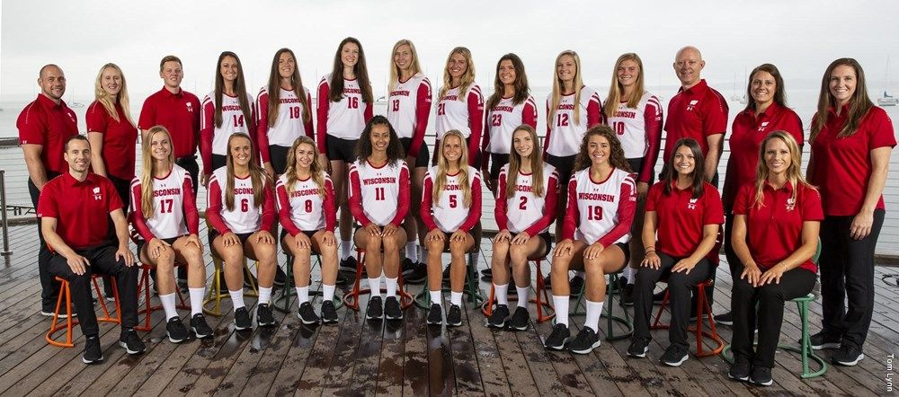 University Of Wisconsin Madison Volleyball Team Picture Photographed July 20 2018 In Madison Wisconsin Volleyball Team Pictures Team Pictures Volleyball Team