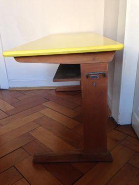 schreibtisch schultisch schulbank antik casala pult. Black Bedroom Furniture Sets. Home Design Ideas