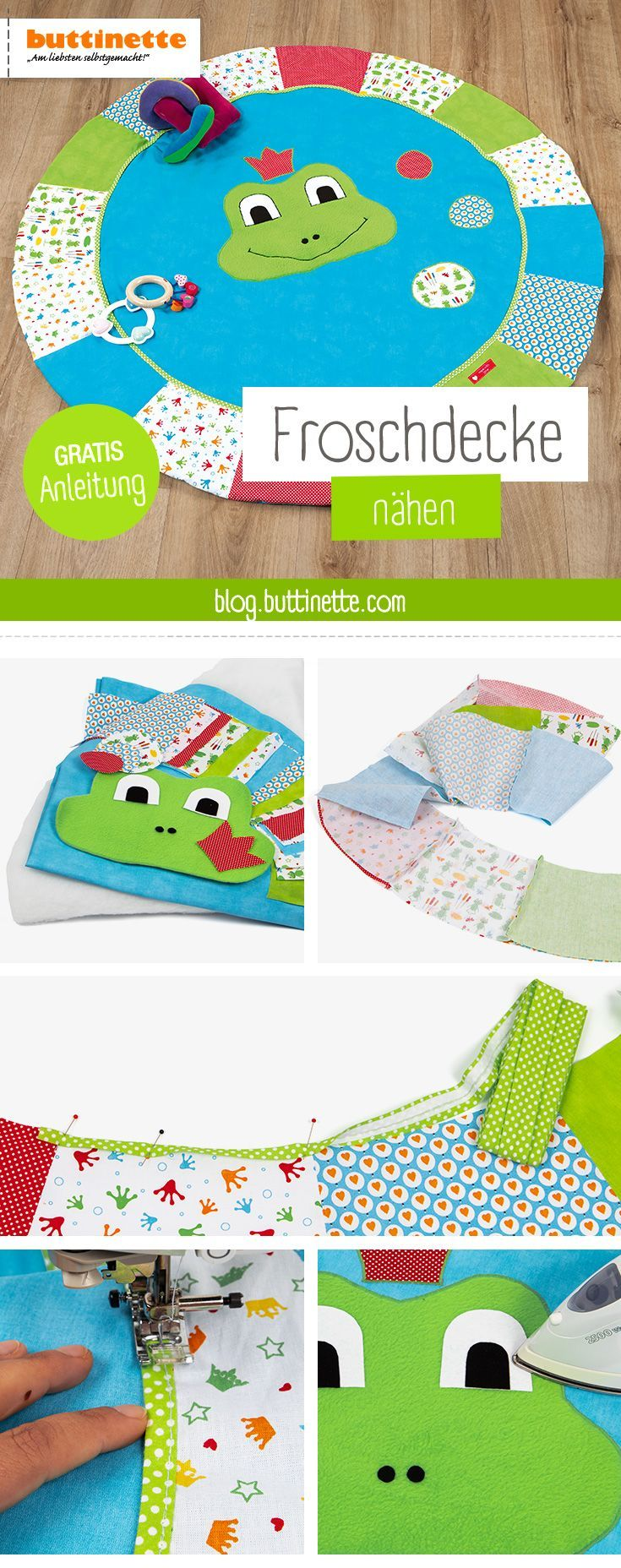 A round playmat in cheerful colors is just the thing for little world explorers  Click here for the free sewing instructions sew einfach clothes crafts for beginners idea...