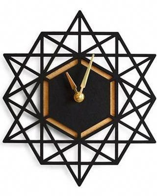 On Sale! Brika Geometric Wall Clock Women's Black/Gold #homedecoritems