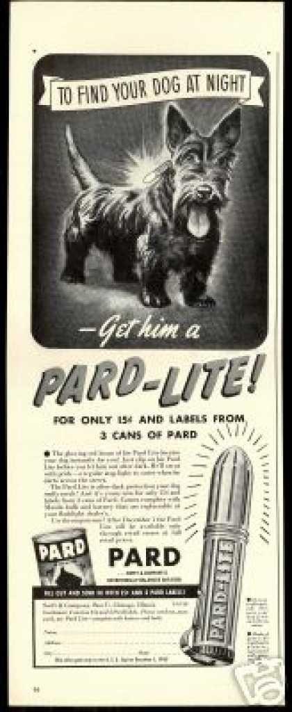 Scottish Terrier Dog Art Pard Lite Offer (1940)