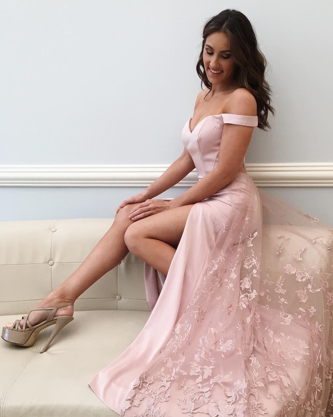 Off Shoulder Prom Dress, Sexy A Line Prom   Vestidos de Lujo ...