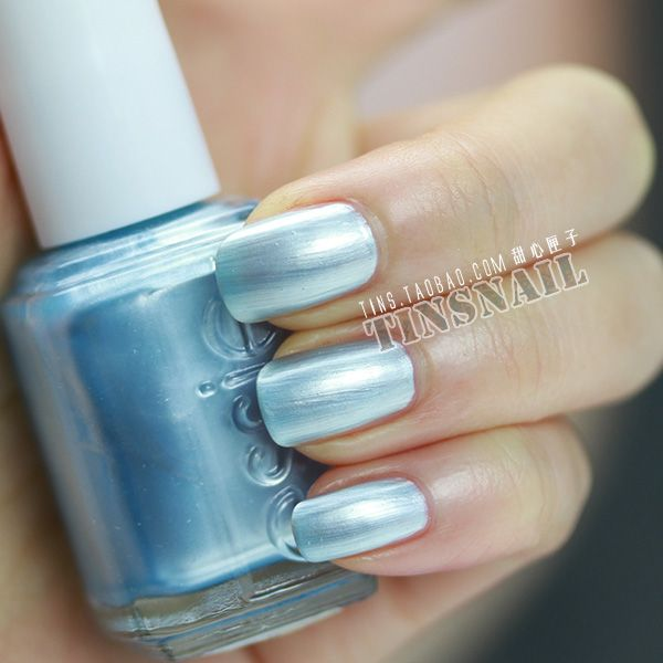 Essie Barbados Blue. Fill line in the middle of the \