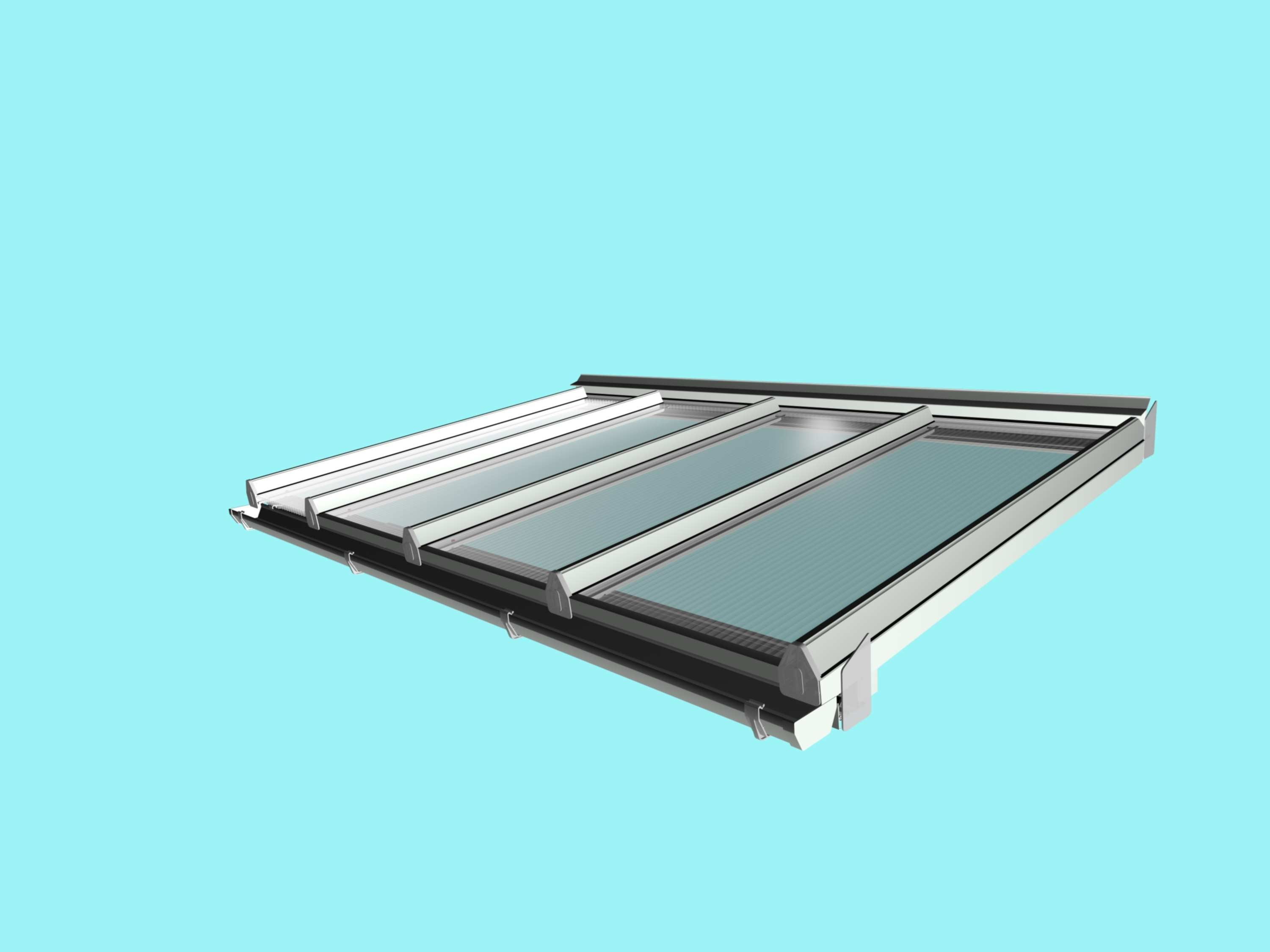 Self Supporting Diy Conservatory Roof Kit For 16mm Polycarbonate 4 0m Wide X 2 5m Projection From Omega Build Diy Conservatory Conservatory Roof Clear Glass