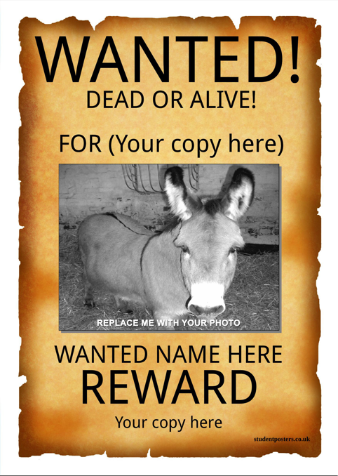 wanted poster template templates forms pinterest sample resume
