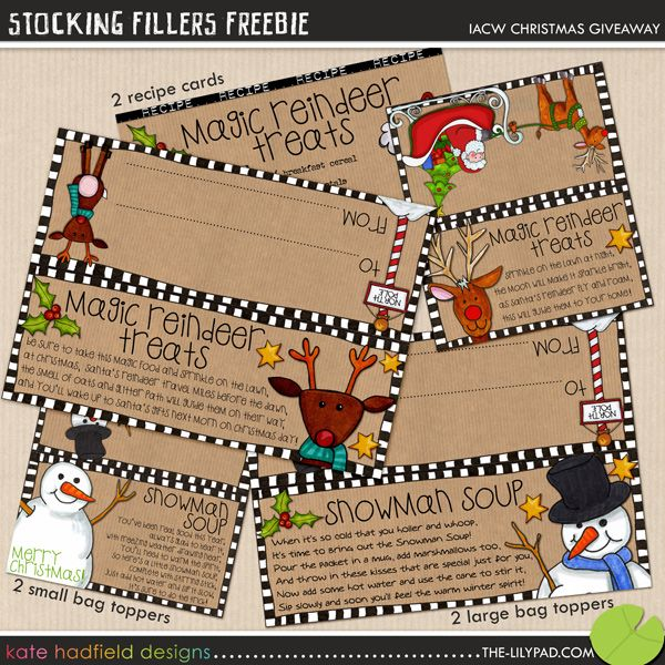 Christmas Printables.......Gift Bag Toppers.....make sure to have lots of cardstock ready!