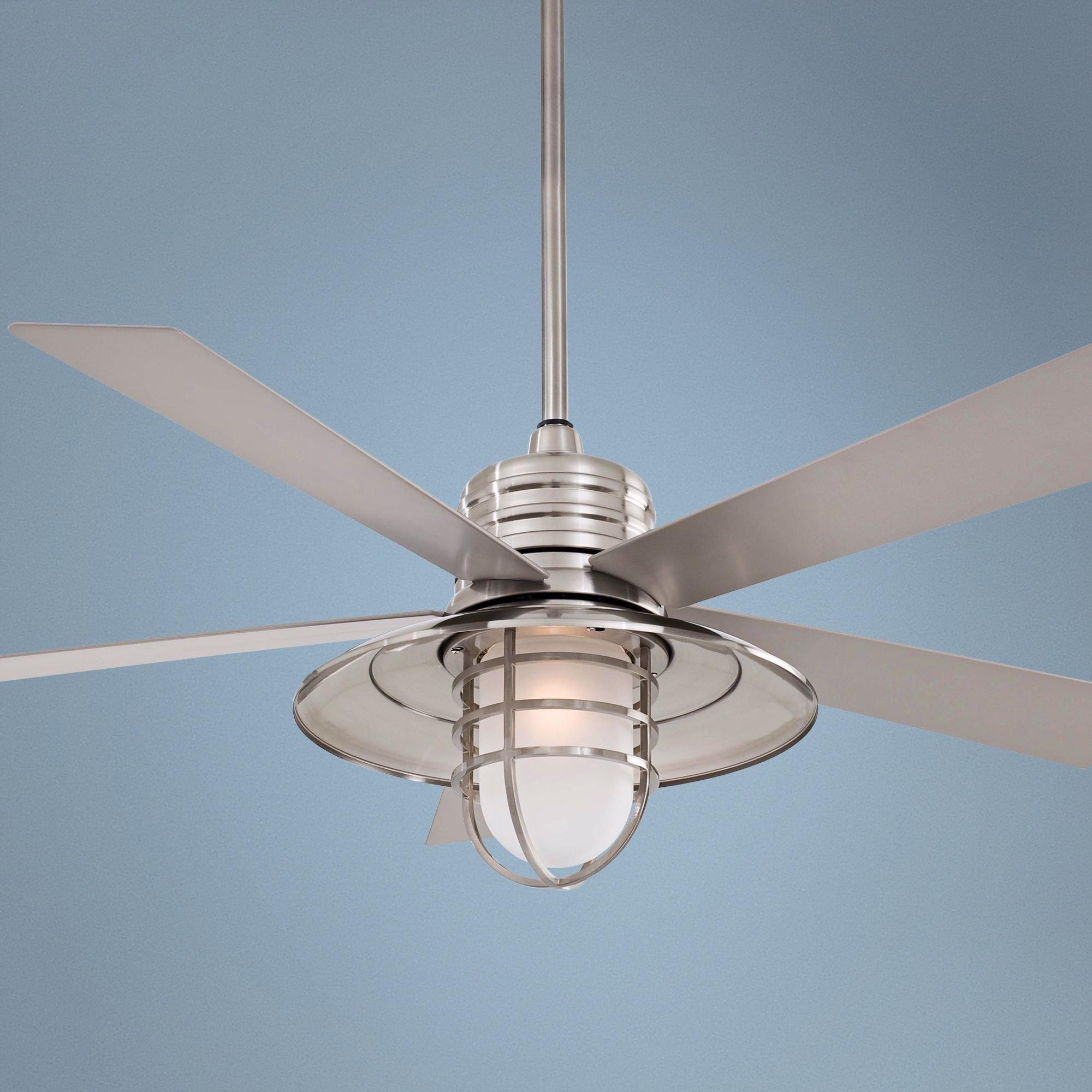 54 Minka Aire Rainman Brushed Nickel Ceiling Fan