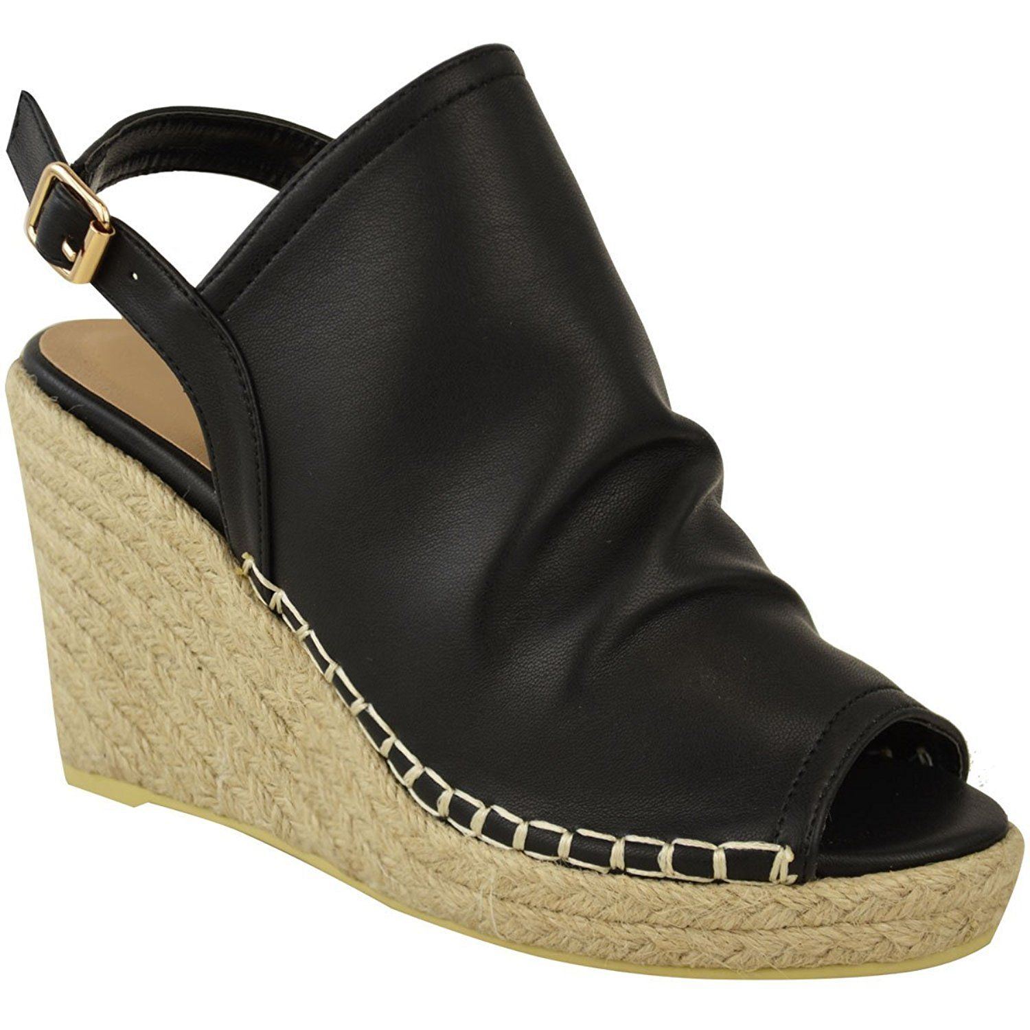Fashion Thirsty Womens Espadrille Wedge Sandals Platforms Low Heels Summer Shoes Size ** Visit the image link more details.