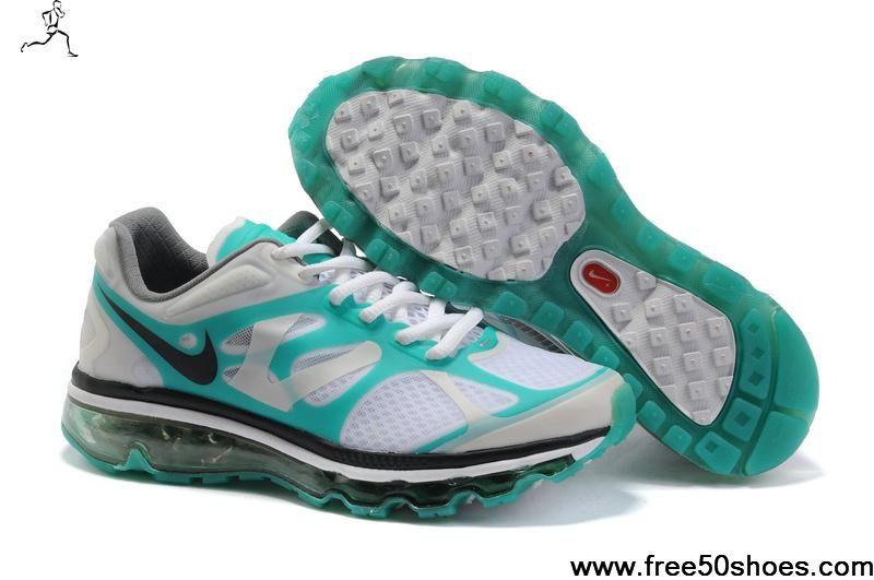 2013 New Nike Air Max 2012 487982 113 Womens White Grey Jade