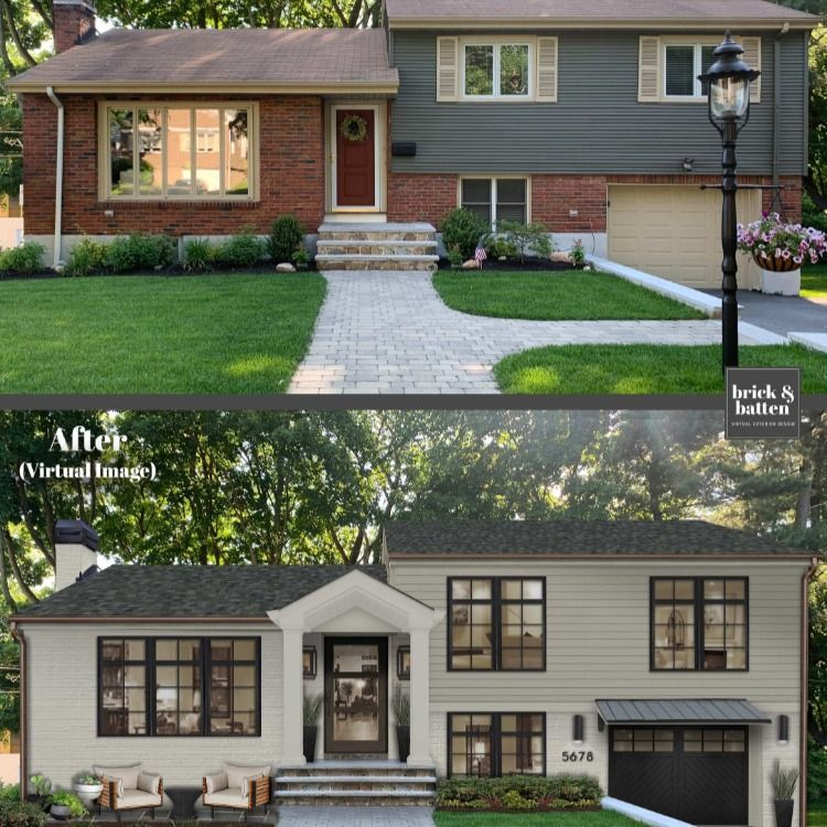 Split Level Tradition In 2020 Ranch House Exterior Home Exterior Makeover Split Level House Exterior