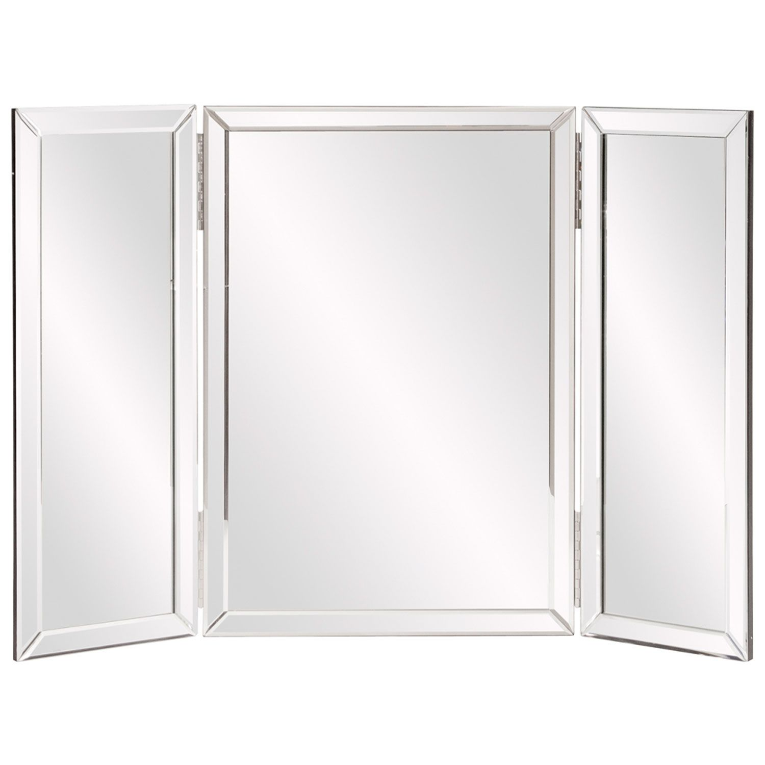 Tripoli Trifold Glass Tabletop Vanity Mirror Howard Elliott Collection Vanity  Mirrors Mirr
