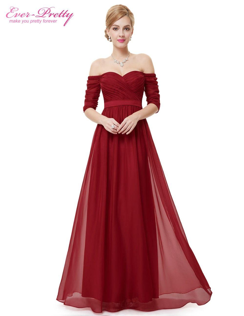 Vestido rojo largo boda barato
