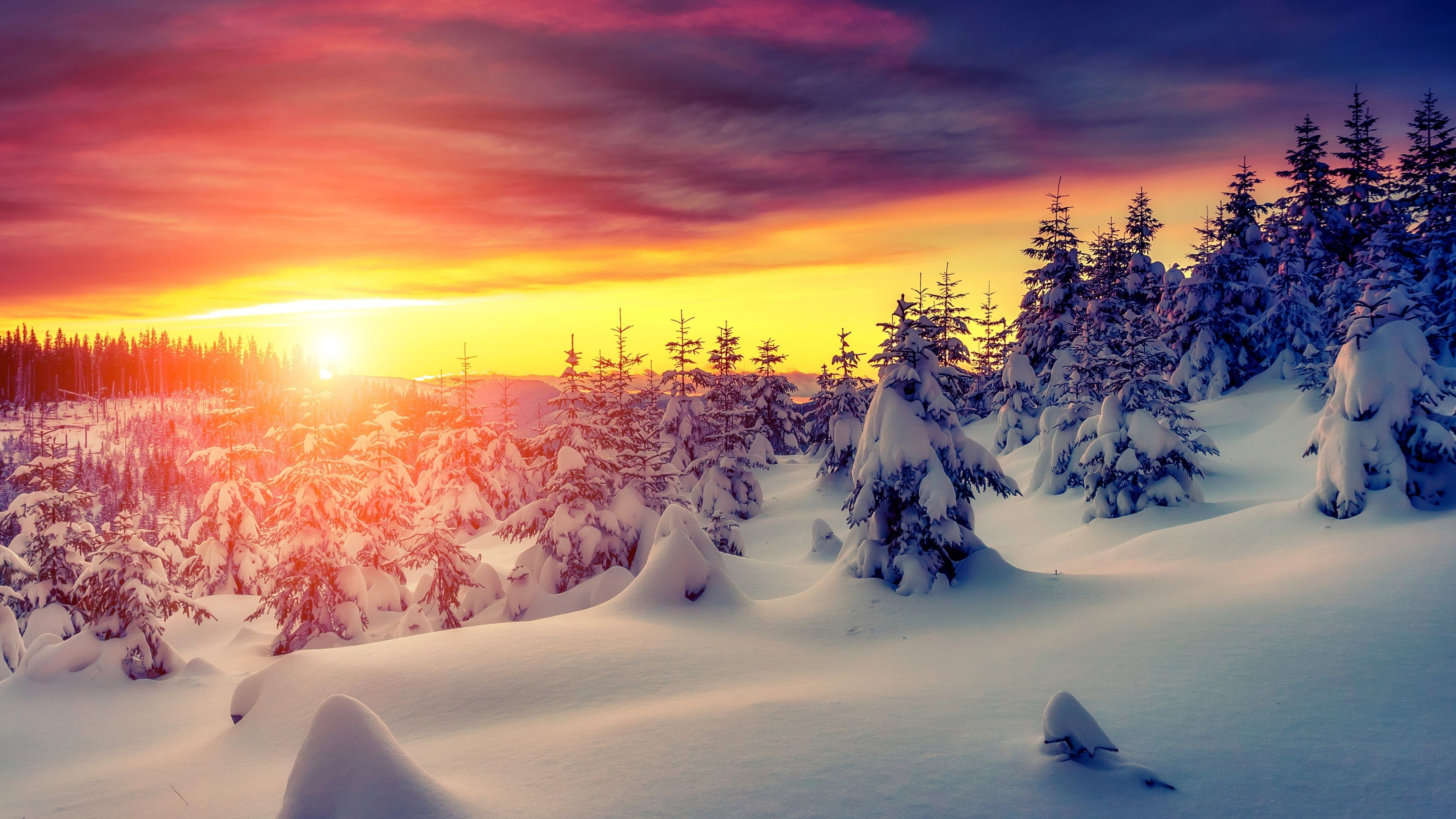 Imgur Post Imgur Winter Landscape Sunrise Wallpaper Landscape Photography