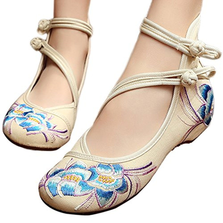 Overdose Ballerines en Cuir Pointure Large Chaussures Plates Femme Mocassins avec N/œud Mules Casual Flat
