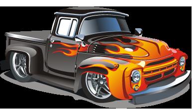 Hot Rod Truck Png 386 220 Hot Rod Trucks Cartoon Car Drawing Car Cartoon