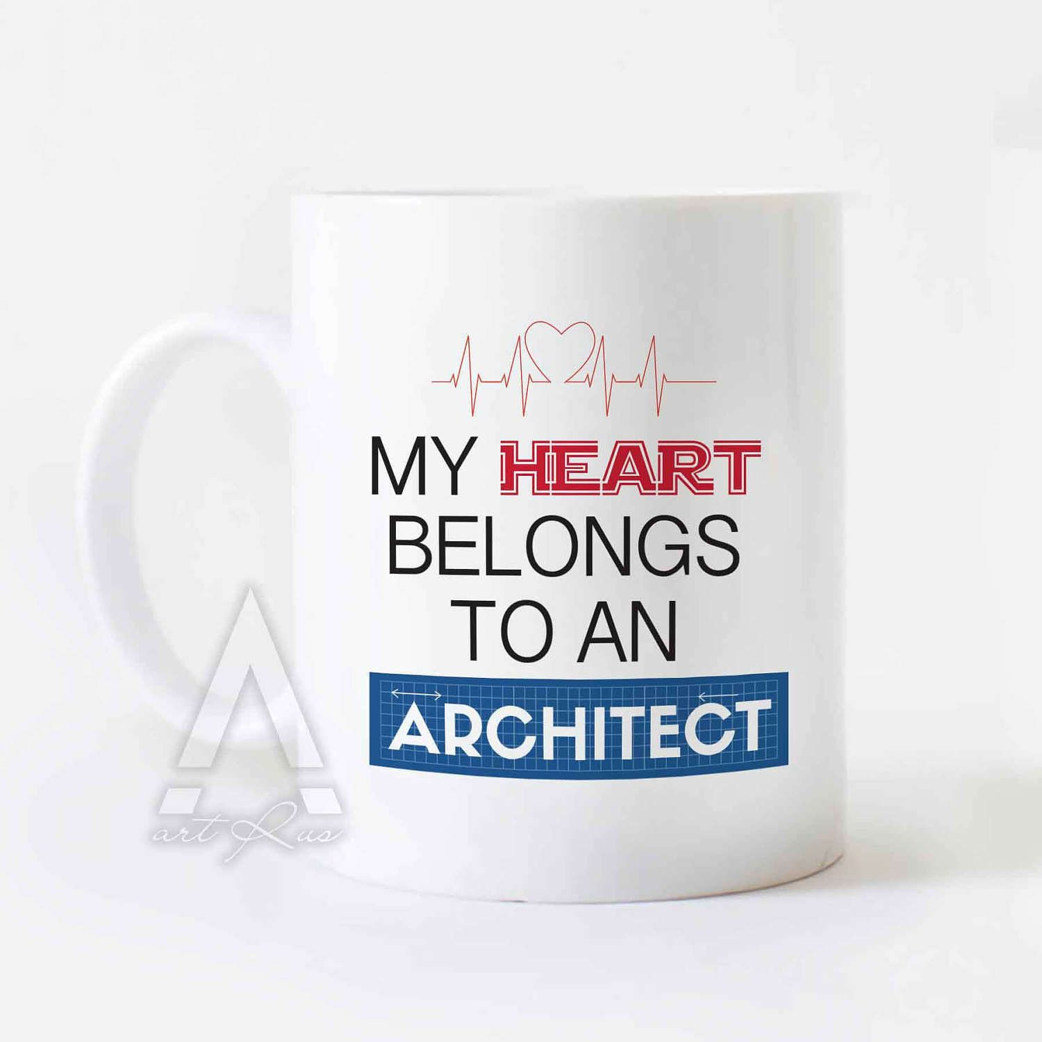 """christmas gift for architect """"my heart belongs to an architect"""