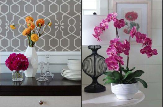 Flores artificiales lo mas natural hogar y estilo - Decoracion de jarrones con flores artificiales ...