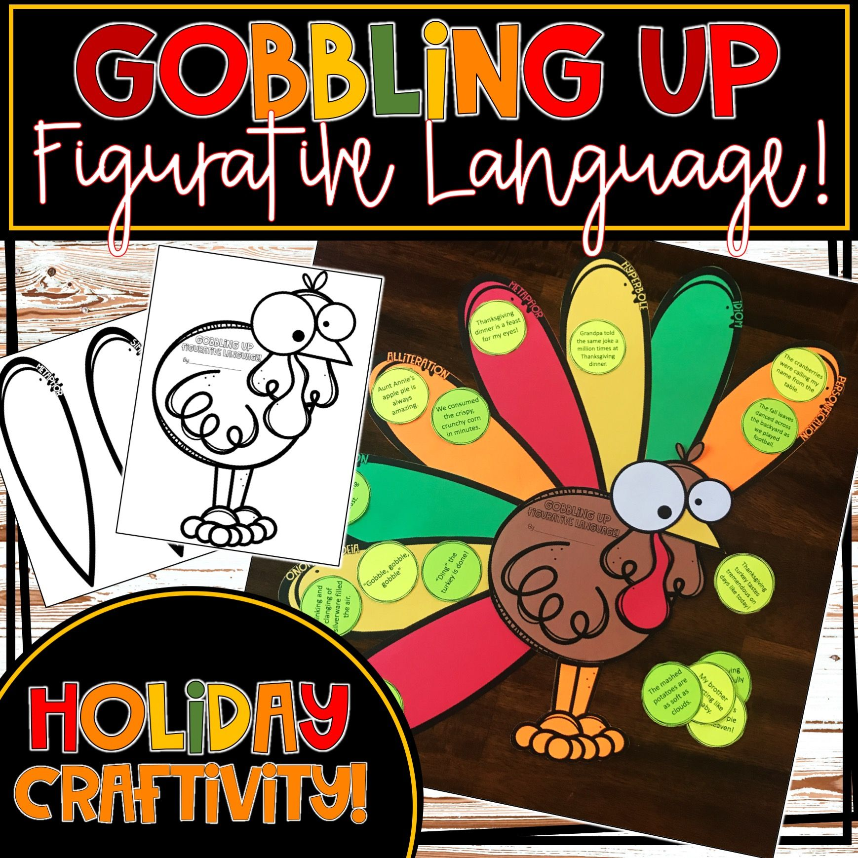 This Is A Perfect Fall Thanksgiving Craftivity Have Your