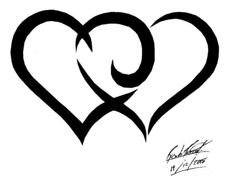 Cute Heart Tattoo Designs: Heart Double Heart Tattoo Ideas Heart Tattoos Cute Heart