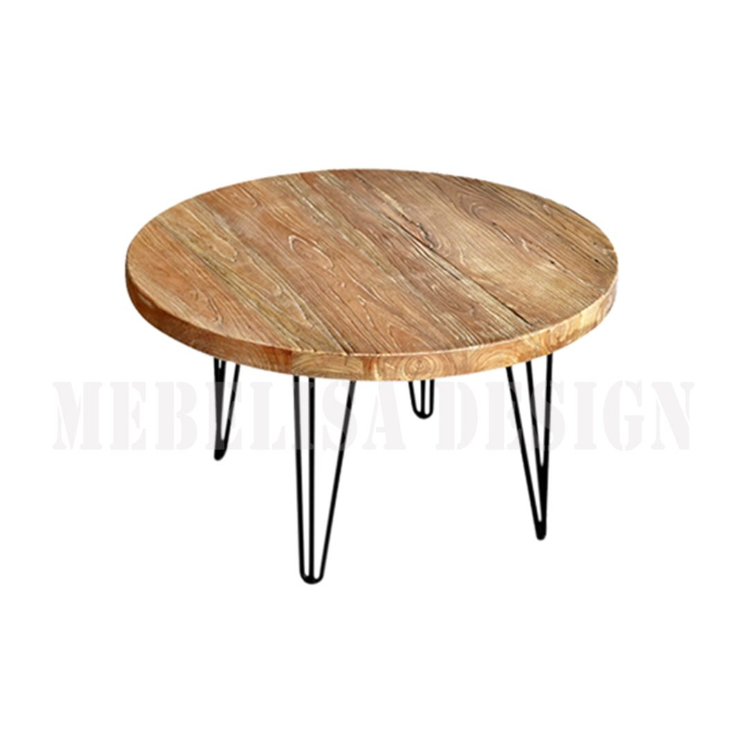 Java Round Coffee Table Industrial Recycle Teak Wood Coffee Table Wood Round Wood Coffee Table Industrial Coffee Table [ 1080 x 1080 Pixel ]