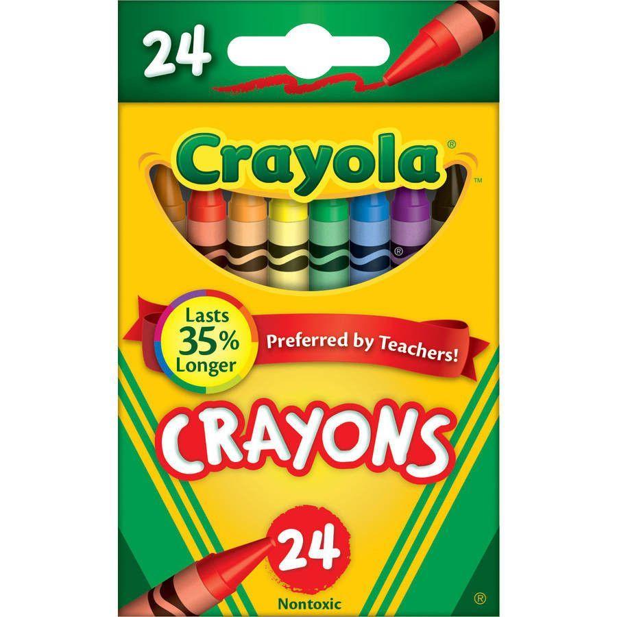 Crayola 520024 Classic Color Pack Crayons, Tuck Box, 24/Box