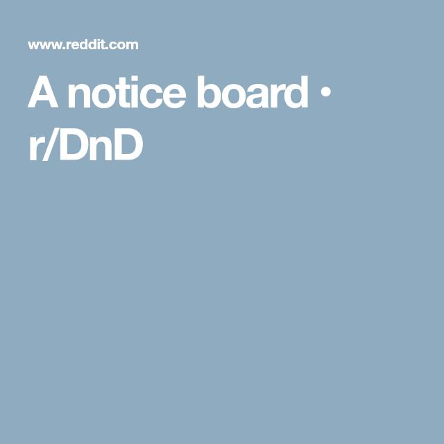 A Notice Board Rdnd Rpg Pinterest Rpg