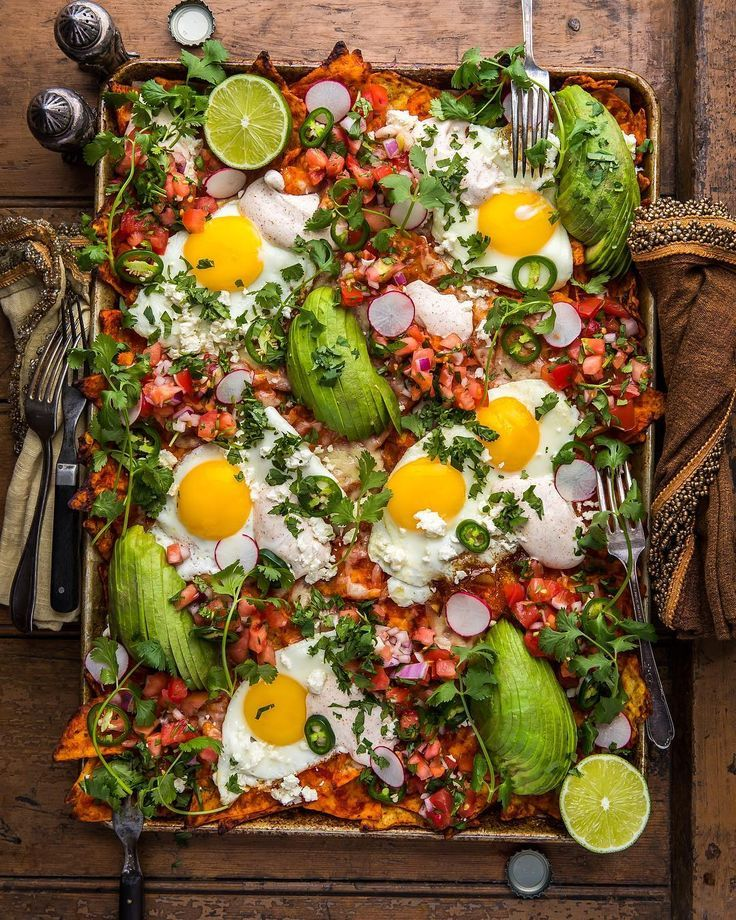 "Dennis The Prescott on Instagram: ""Sunday Happiness. Loaded Red Chilaquiles with Fried Eggs, Pico, & Chili-Spiked Sour Cream. This is where I want to live. Right here.…"" #festmad"