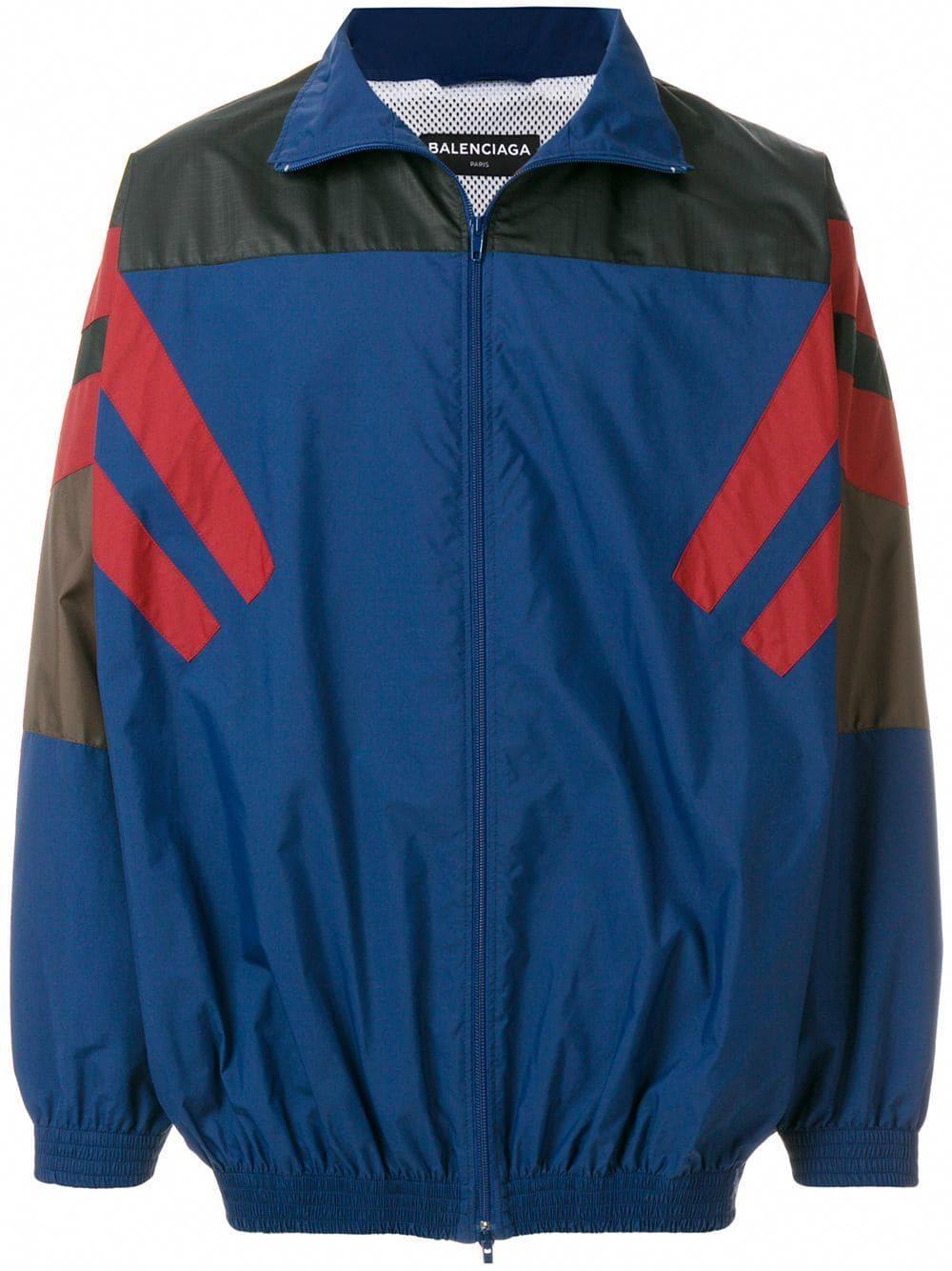 Balenciaga Bal Tracksuit Jacket Blue