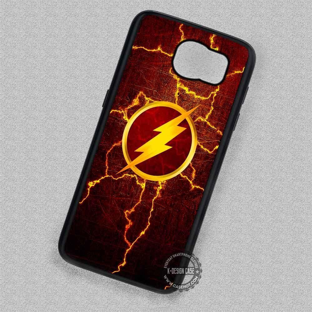 Lighting Symbol The Flash Comic Samsung Galaxy S7 S6 S5 Note 7