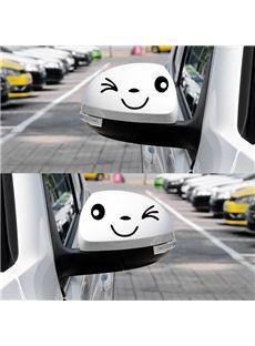 Bright Smiling Face Car Rear Mirrors Sticker Car Car Decor Car
