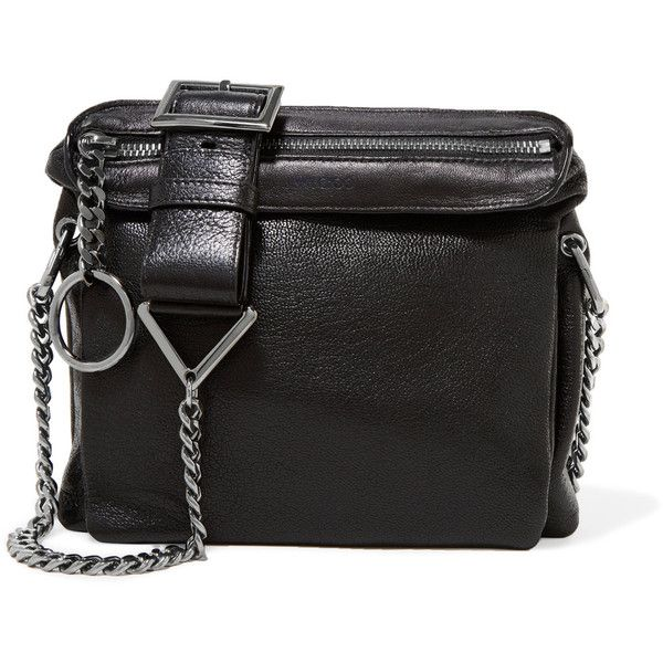 Jimmy Choo - Mardy Textured-leather Shoulder Bag (650 CAD) ❤ liked on Polyvore featuring bags, handbags, shoulder bags, black, zippered tote bag, zip shoulder bag, zipper tote, tote handbags and tote purses
