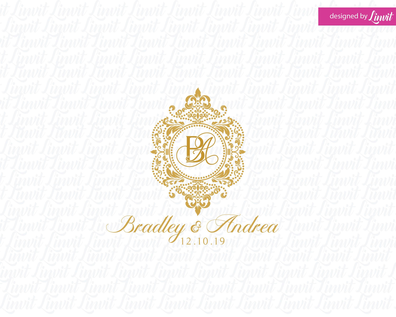 Luxury Wedding Logo wedding logo wedding monogram logo premade wedding logo custom wedding logo custom luxury logo gold logo