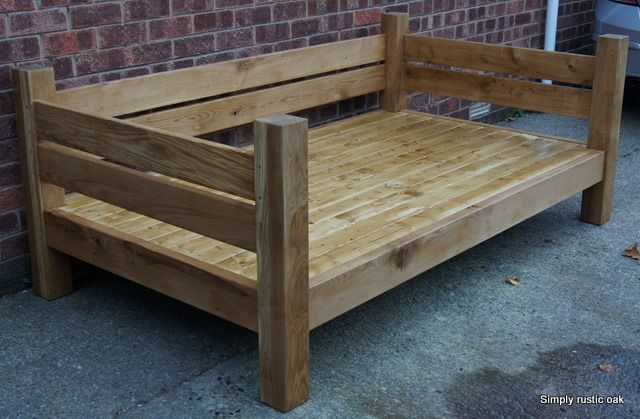 Rustic Oak Day Bed Sillones Reciclados Muebles Con Palets
