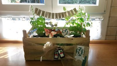 Kräutergarten, Stampin'Up, Geburtstag, Geschenk, 50 ...