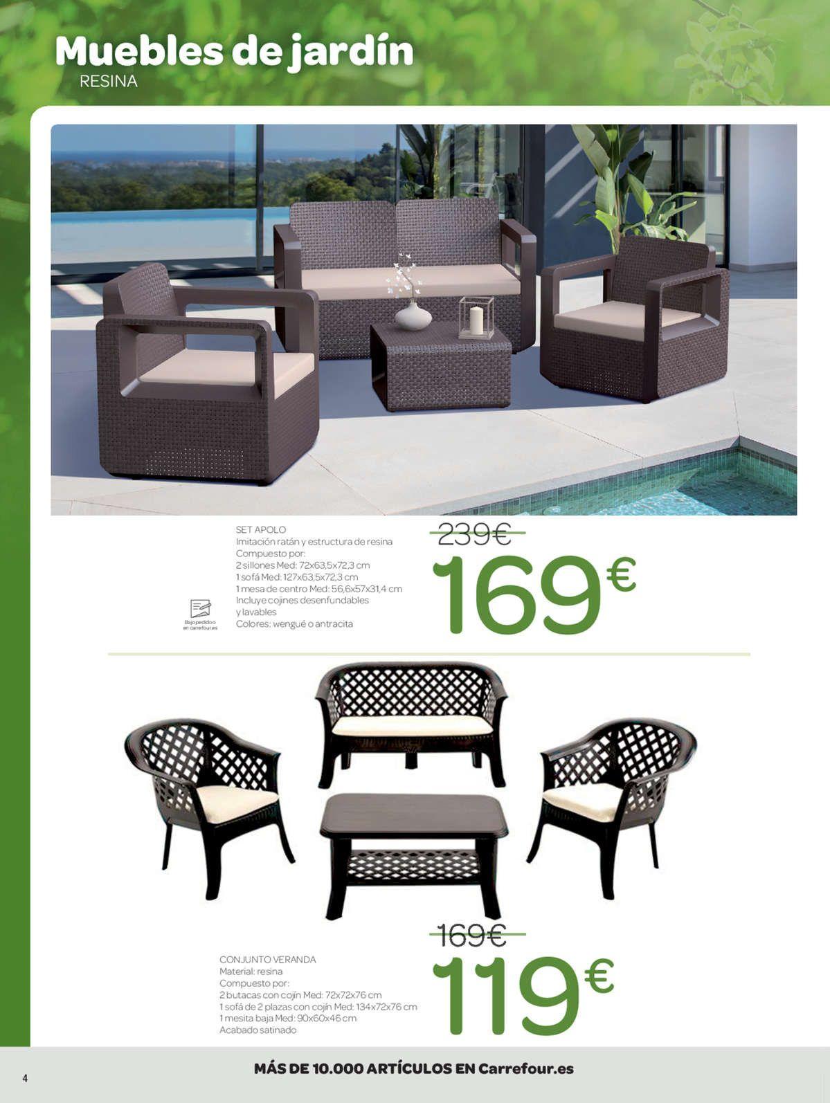 Catalogo Muebles De Jardin Carrefour 2017 2020 Di 2020