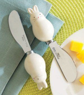 Tag bunny spreaders set of 2 by tag 1400 white ceramic bunny tag bunny spreaders set of 2 by tag 1400 white ceramic bunny handles negle Choice Image