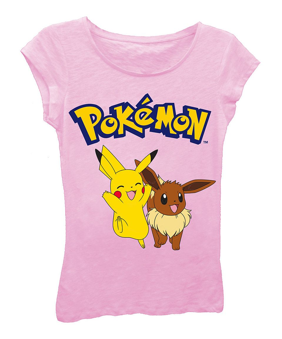 683ed8ca Look what I found on #zulily! Pokémon Pikachu & Eevee Fitted Tee ...