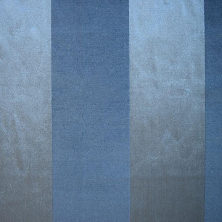 Ocean Velvet Stripe Fabric - Upholstery Fabric