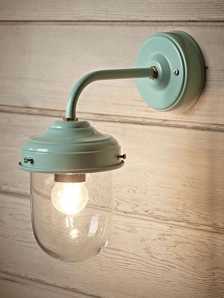 New Stable Light Eau De Nil Brass Outdoor Lighting Light Exterior Wall Light