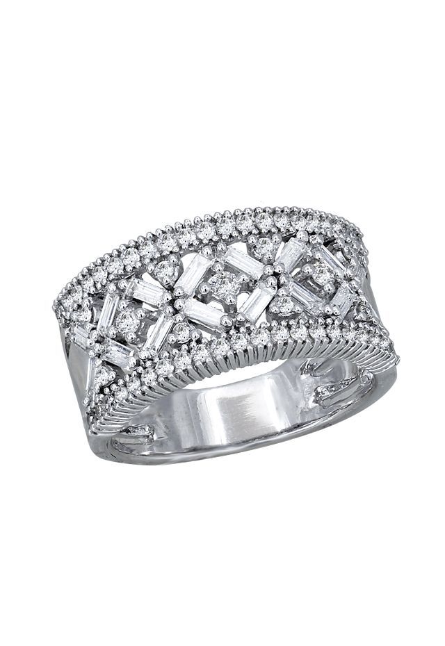 zsazsasitlist:  SEE DETAILS HERE:Effy Jewelry 14K White Gold Diamond Ring, 1.08 TCW
