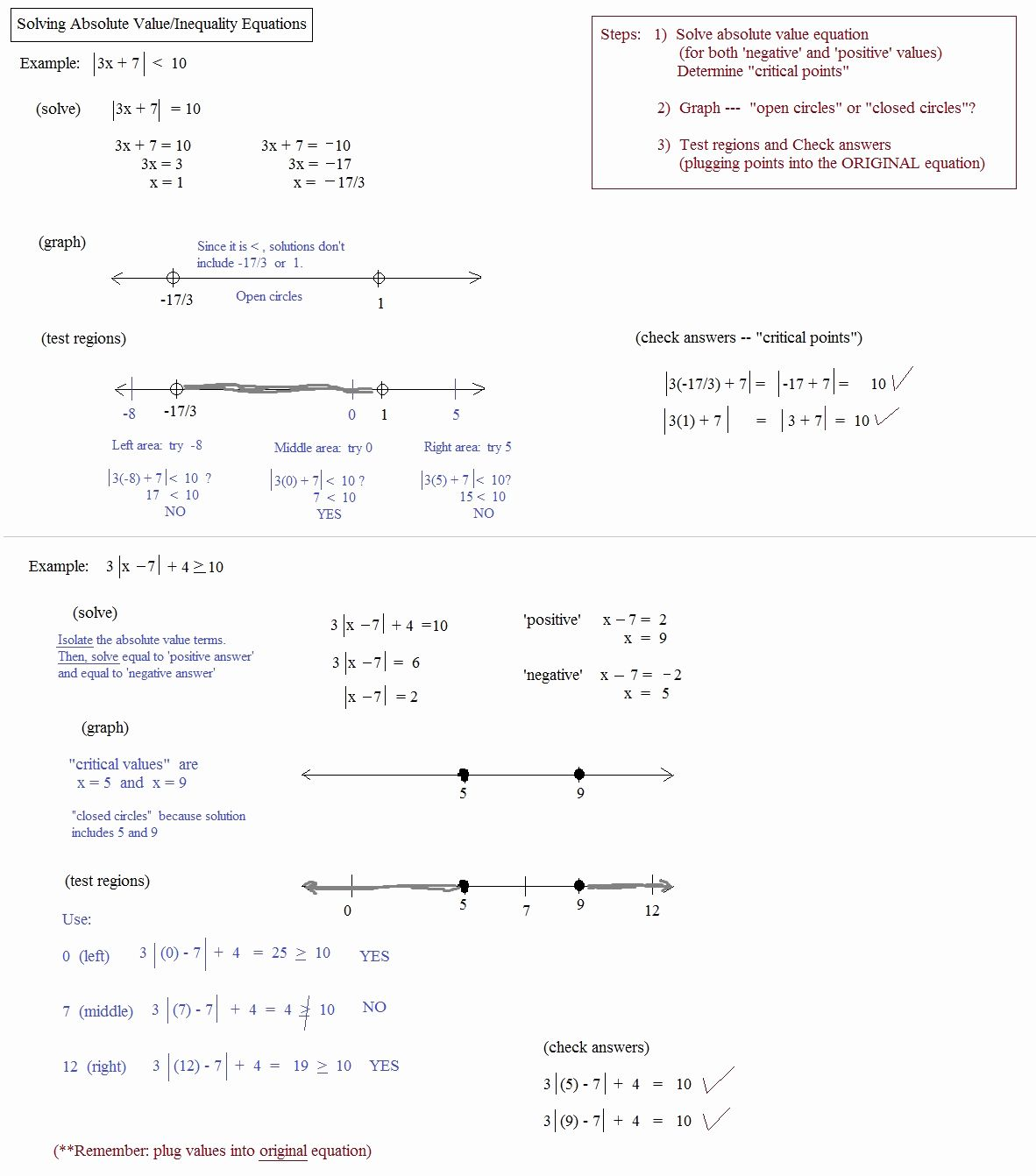 Absolute Value Inequalities Worksheet Answers Best Of