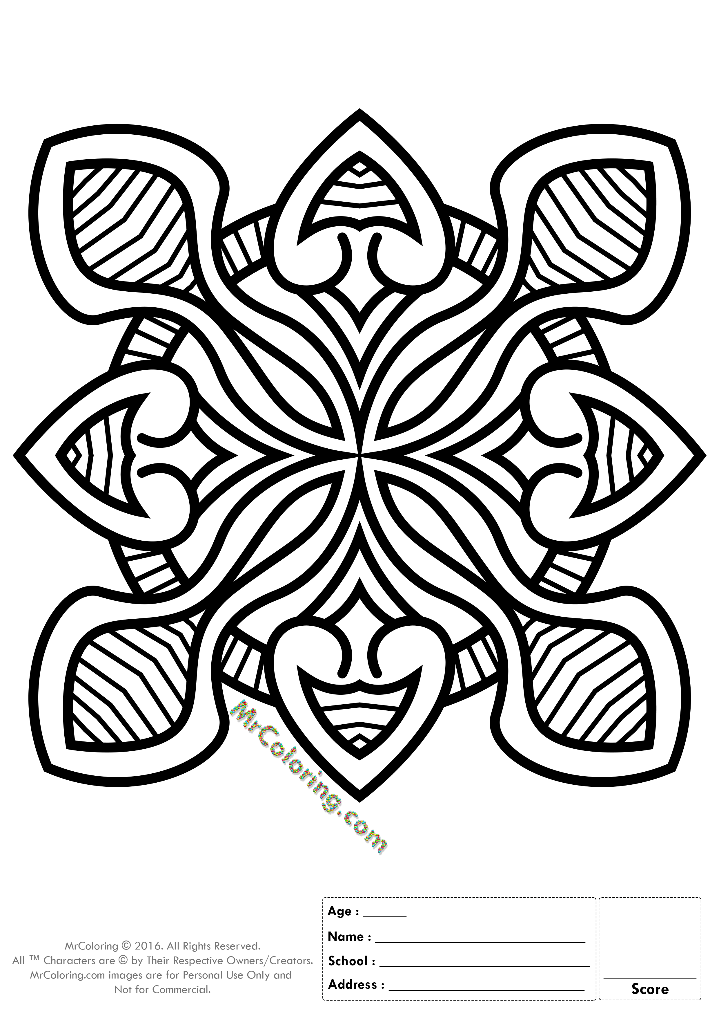 Printable Mandala Online Coloring Pages And WorkSheets