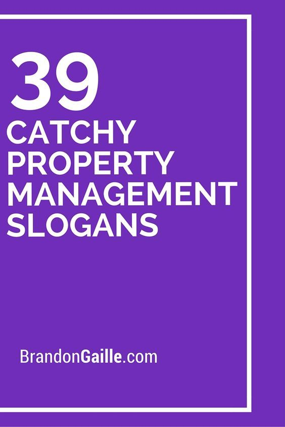 41 Catchy Property Management Slogans and Taglines Property - commercial property management agreement