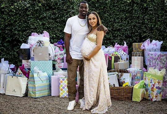 LANCE GROSS AND GIRLFRIEND CELEBRATE AT THEIR BABY SHOWER   Black Celebrity  Kids