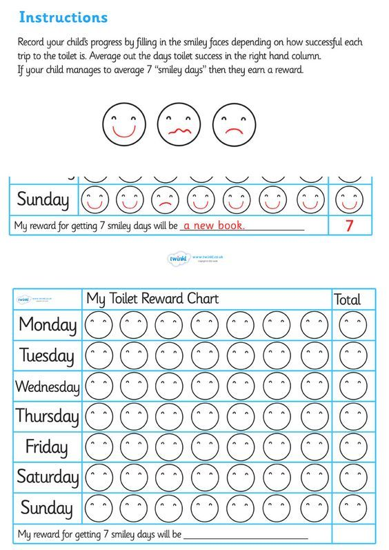 potty training rewards chart