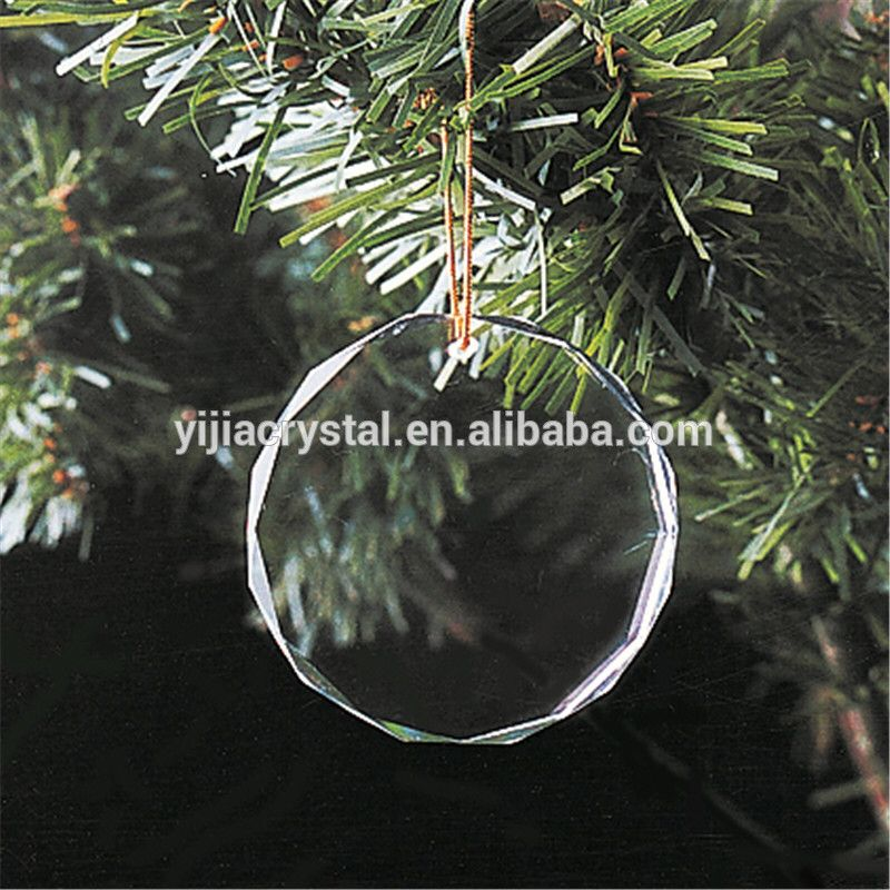Blank Crystal Christmas Ornament Round Glass Ornament Glass Ornaments Clear Glass Ornaments Hanging Ornaments