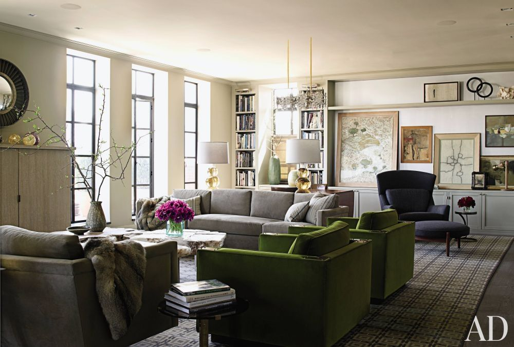 Charming Contemporary Living Room By Janson Goldstein | AD DesignFile   Home  Decorating Photos | Architectural Digest