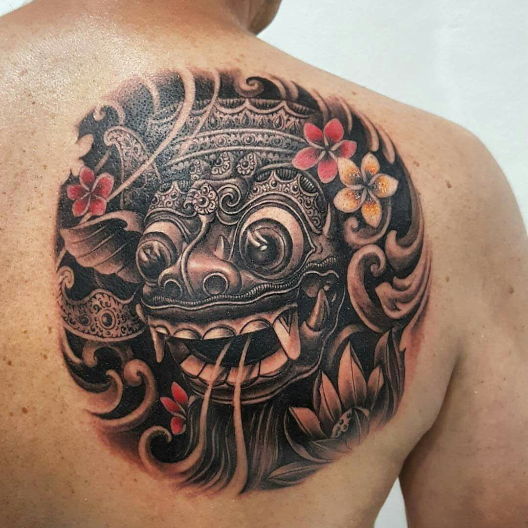 barong mask tattoo tattoos pinterest masking tattoo and tattoo covering. Black Bedroom Furniture Sets. Home Design Ideas
