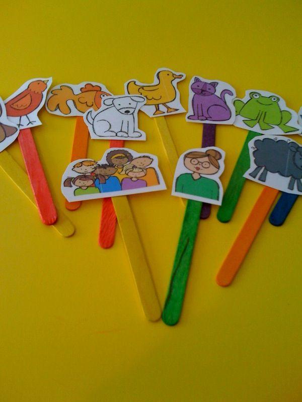 Mini marionetas de animales