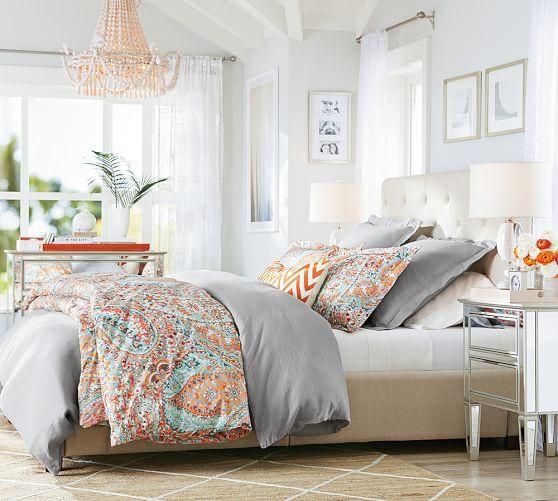Paloma Paisley Organic Percale Duvet Cover Amp Shams Home